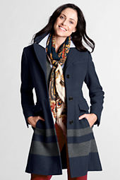 Women's Wool Engineered Stripe City Coat
