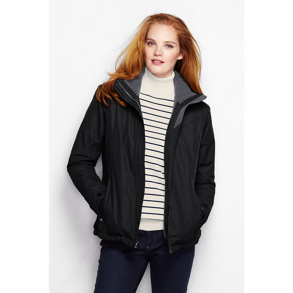 Lands' End Women's Petite Hooded Squall Jacket at Sears.com
