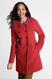 Women's Luxe Wool Scoopneck Coat