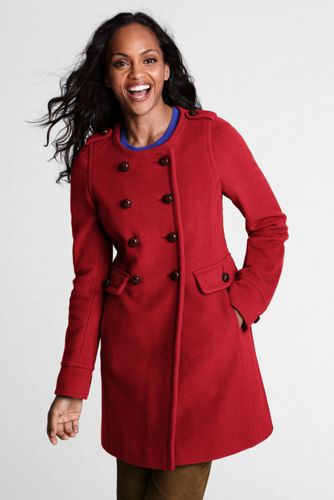 Women's Regular Luxe Wool Blend Scoopneck Coat