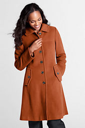 Women's Luxe Wool Swing Car Coat