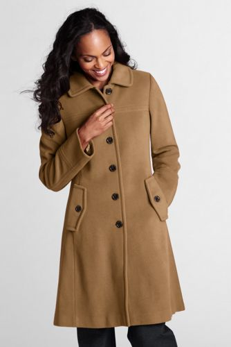 Women's Plus Luxe Wool Swing Car Coat