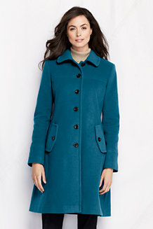 Women's Luxe Wool Blend Swing Car Coat