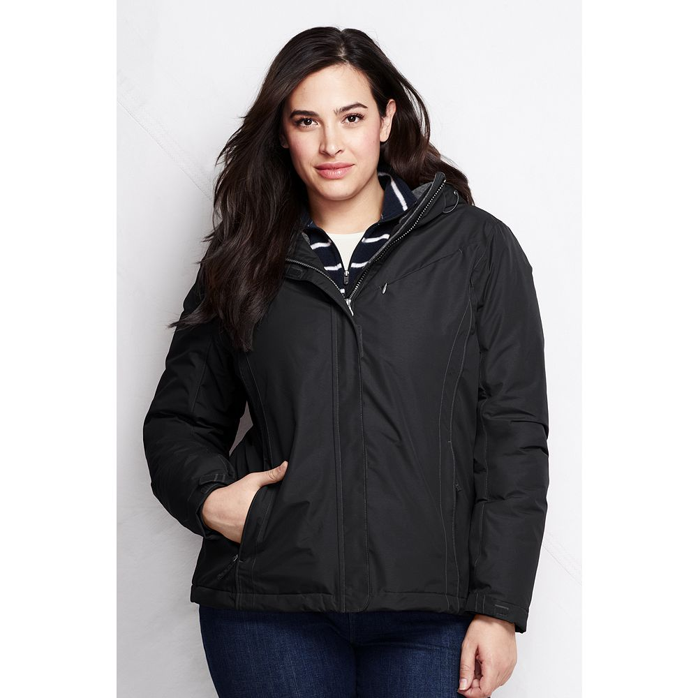 Lands' End Women's Plus Size Hooded Squall Jacket at Sears.com