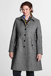 Women's Pattern Wool Swing Car Coat