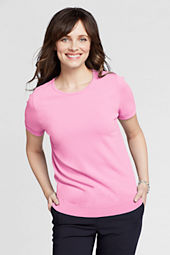 Women's Short Sleeve Rayon Nylon Scallop Shell