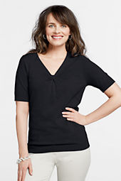 Women's 3/4-sleeve Performance Knotneck Sweater