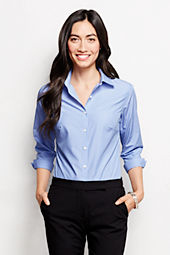 Women's 3/4-sleeve Modern Pattern Broadcloth Shirt