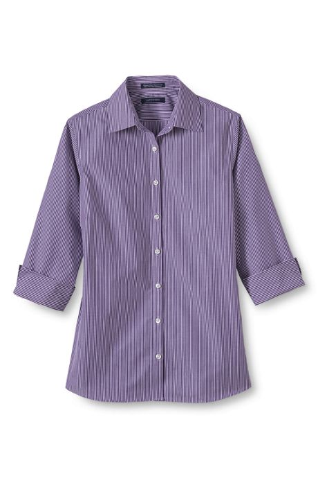 Women's 3/4 Sleeve Pattern Broadcloth Shirt