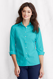 Women's 3/4-sleeve Modern Broadcloth Shirt
