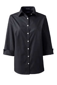 School Uniform Women's Plus Size 3/4 Sleeve Broadcloth Shirt