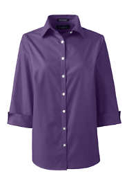 Women's Petite 3/4 Sleeve Broadcloth Shirt