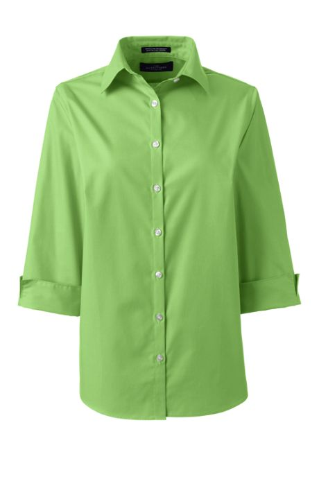 Women's Tall 3/4 Sleeve Broadcloth Shirt
