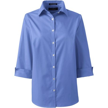 Women's 3/4 Sleeve Broadcloth Shirt