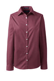 Women's Plus Size Long Sleeve Broadcloth Shirt