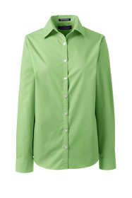 Women's Petite Long Sleeve Broadcloth Shirt