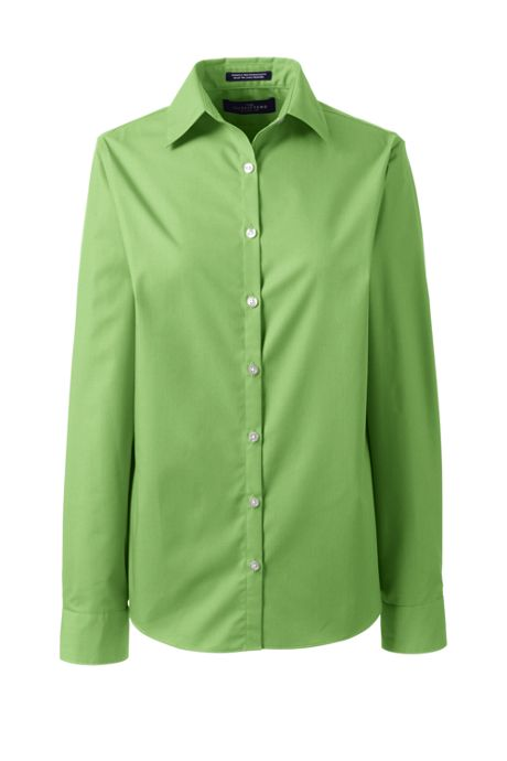 School Uniform Women's Tall Long Sleeve Broadcloth Shirt