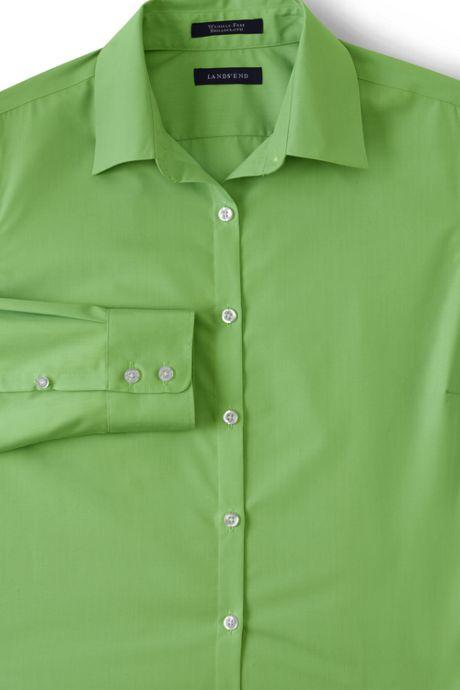 School Uniform Women's Petite Long Sleeve Broadcloth Shirt