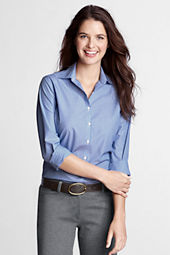 Women's Long Sleeve Modern Pattern Broadcloth Shirt