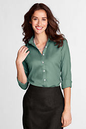 Women's Long Sleeve Herringbone Blouse