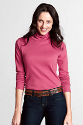 Women's Long Sleeve Shaped Supima Turtleneck