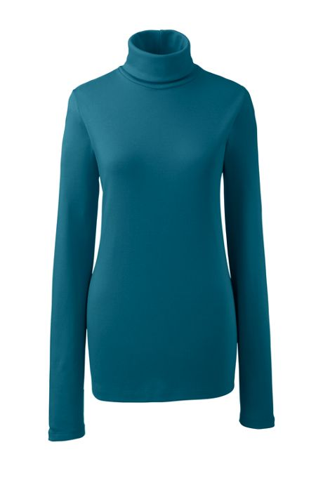Women's Petite Supima Cotton Long Sleeve Turtleneck