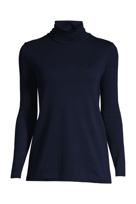 Women's Plus Size Shaped Supima Turtleneck