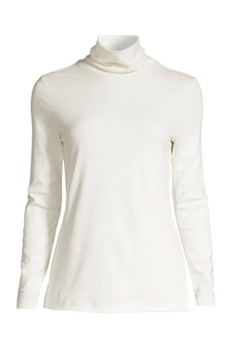 Women's Plus Size Supima Cotton Long Sleeve Turtleneck