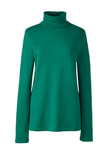 Women's Shaped Supima® Long Sleeve Roll Neck