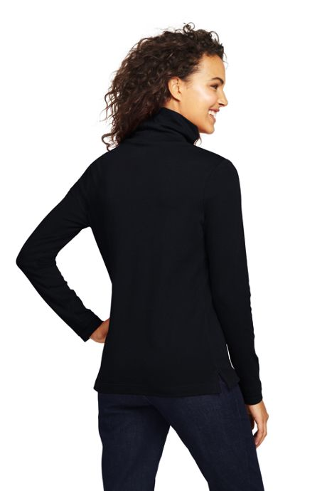 Women's Petite Supima Cotton Turtleneck