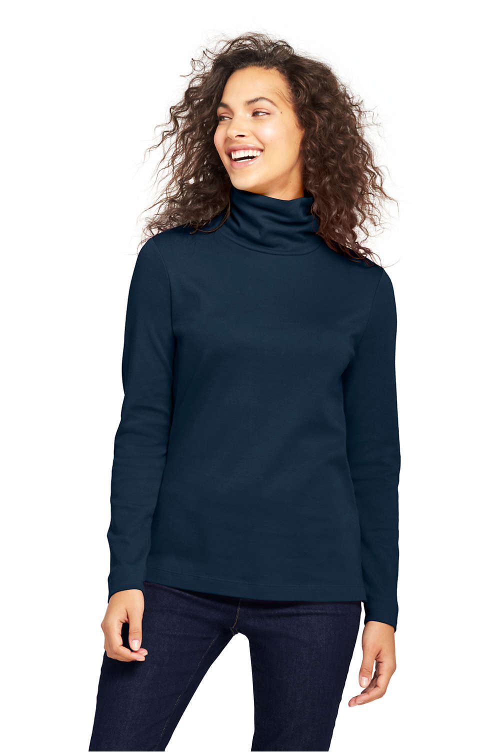 Womens Supima Cotton Turtleneck From Lands End