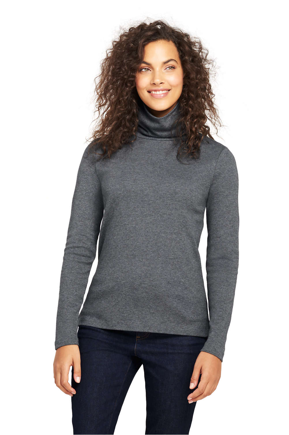 d3aa8bc82d Women s Supima Cotton Turtleneck from Lands  End