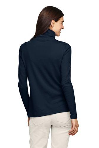 Women's Petite Supima Cotton Long Sleeve Turtleneck