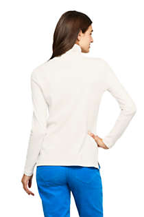 Women's Supima Cotton Long Sleeve Turtleneck, Back