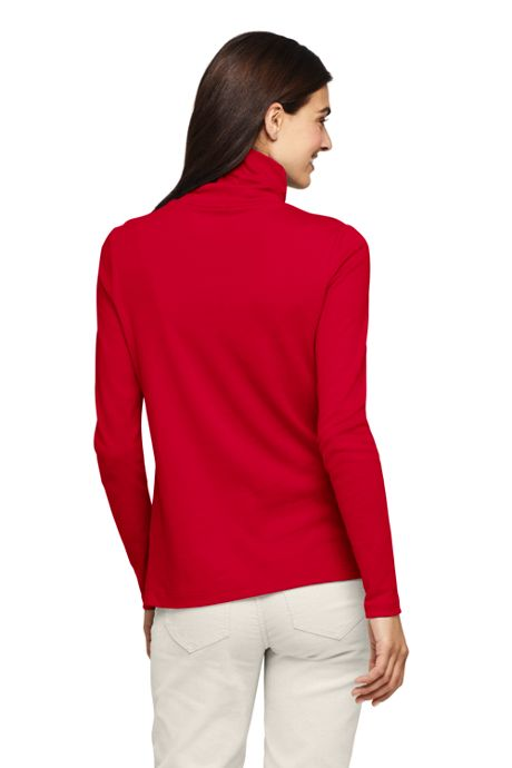 Women's Tall Supima Cotton Long Sleeve Turtleneck