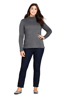 Women's Plus Size Supima Cotton Long Sleeve Turtleneck, Unknown