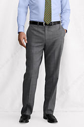 Men's Plain Front Comfort Waist SuperNatural™ Wool Trousers