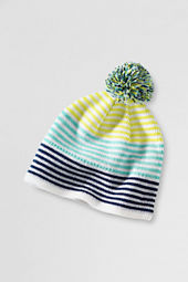 Girls' Striped Knit Beanie