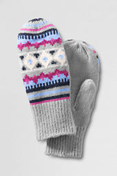Girls' Fair Isle Knit Mittens