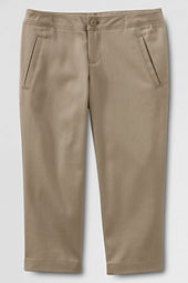 Juniors' Stain Resistant Crop Pants
