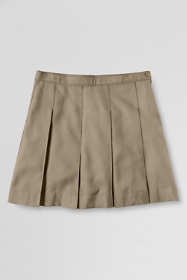 School Uniform Juniors Solid Box Pleat Skirt Top of Knee
