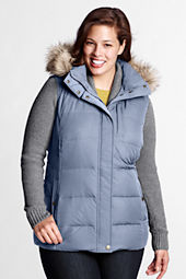 Women's Plus Size Modern Down Long Vest
