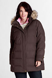 Women's Plus Size Modern Down Long Parka