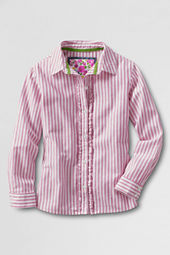 Girls' Long Sleeve Ruffle Placket Shirt