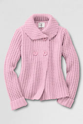 Girls' Long Sleeve Button-front Chunky Cardigan Sweater