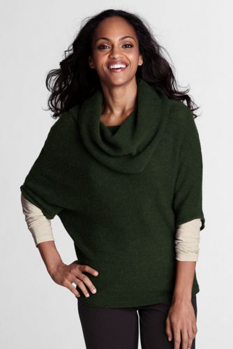 Offerta: Lands' End Women's Petite  Alpaca/ Wool Cowl Neck Jumper