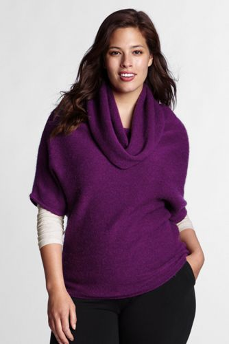 Offerta: Lands' End Women's Plus  Alpaca/ Wool Cowl Neck Jumper