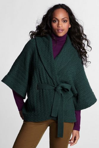 Schalkragen-Strickjacke im Lambswool-Mix für Damen