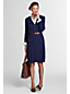 Women's Regular Merino Wool Button Placket Dress
