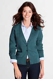 Women's Long Sleeve Italian Merino V-neck Cardigan